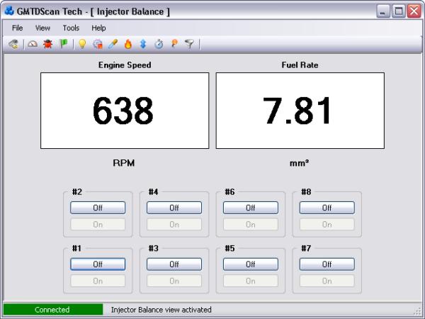 GMTDScan Tech - Injector Balance