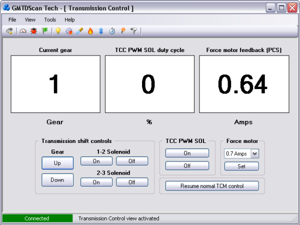GMTDScan Tech - Transmission Control