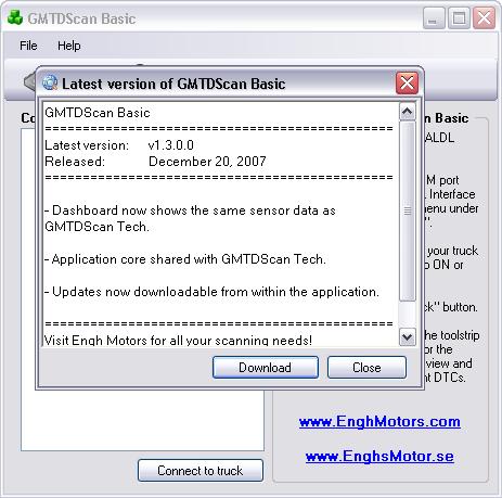 GMTDScan Basic - Updates